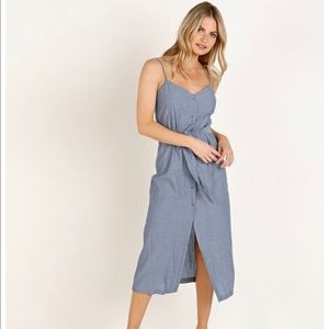LACAUSA Bluebell Chambray Midi Dress